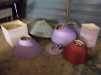 8 DIFFERENT LAMP SHADES