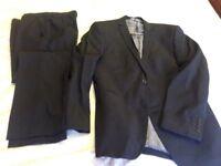 Men's black/ charcoal pinstripe suit