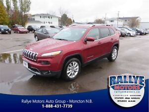 2016 Jeep Cherokee Limited! 4x4! Back-Up! Alloy! Leather! Heated