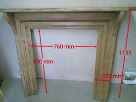 Very old wooden fire surround