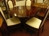 mahogany table with 4 chairs