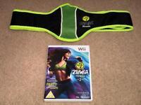 Zumba fitness 2 Wii with belt