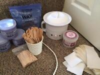 Hive wax pot with wax and accessories