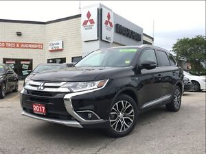 2017 Mitsubishi Outlander GT S-AWC (NAVIGATION! 18 ALLOYS! BACKU