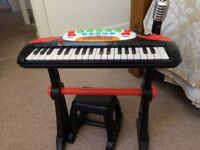 Battery operated Keyboard and seat