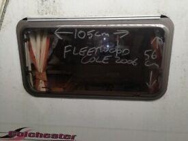 Fleetwood Colchester Caravan front side window