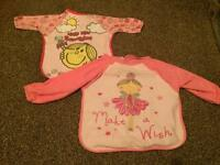 Weaning long sleeved baby girls bibs