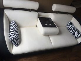 Gio 3 Seater sofa in Black and White