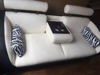 Gio 3 Seater sofa in Black and White