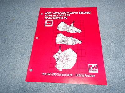1988 GM GMC TRUCK HM-290 TRANSMISSION SALES BROCHURE DEALER NICE ORIGINAL