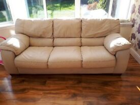 3 seater and a 2 seater leather sofa in perfcet condition, buyer collects.