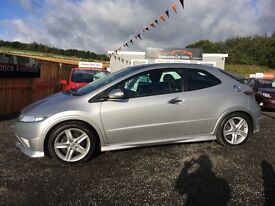 REDUCED 2012 Honda Civic Type S 12 Months Warranty 2 Years FREE MOT and servicing