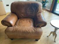 DFS large leather armchair