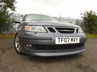 07 SAAB 9-3 AERO 210 BHP AUTOMATIC 2.0,MOT OCT 018,3 OWNER,FULL SERVICE HISTORY,VERY LOW MILEAGE CAR