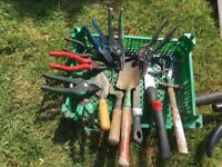 Garden tools and screwdrivers