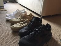 Oxford Tan Yeezys and Full Black Hauraches size 9.5 UK (look in description