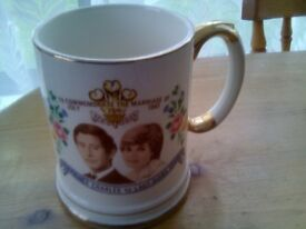 LOVELY TANKERD OF MARRIAGE OF LADY DIANA AND PRINCE CHARLES 1981