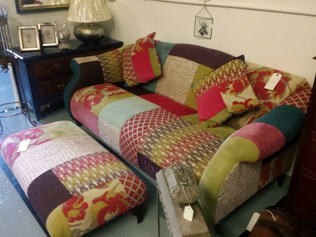 Dfs Patchwork Kitty Sofa 2 3 Seater Settee In Bingley West