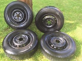 Mercedes Sprinter Wheels and Tyres - Good Condition and lots of tread -
