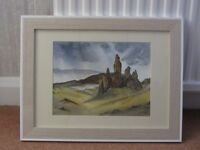 3 Original Framed Scottish Watercolour Paintings