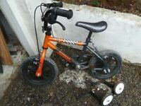 Boys Bike Good Condition Raleigh Sunbeam MX 12 Age 2 Years Plus 12inch Wheels