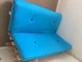 Blue sofa bed/futon