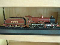 Trains for display.