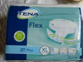 Underwear Incontinence Pads TENA Flex Plus Extra Large Pack of 30