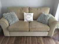 Biscuit coloured excellent condition sofa bed