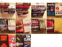 Job Lot Of 14 Crime N Thrillers story Books. A Mixture Of Authors