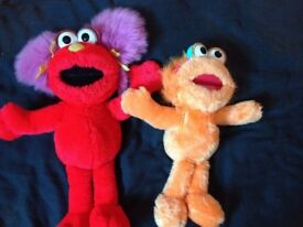 Sesame Street soft toys 2 girl characters