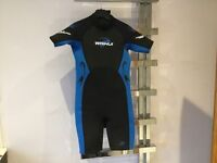 Bundle of clothes including wetsuit, Manchester City top, trespass coat and selection of t shirts