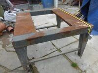 Metal worktop/bench