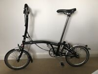 Brompton Bike H3L Black (in a perfect state, barely used)