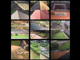 LANDSCAPING, PATIOS & DRIVES, TREE CARE, ROOF MOSS REMOVAL, FENCING