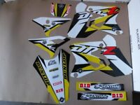 New DRZ 400 S E SM 00-17 FLU PTS3 Graphics Sticker Decals Kit Enduro