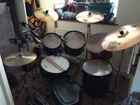 7 piece Premier Cabria Drum Kit,, Used