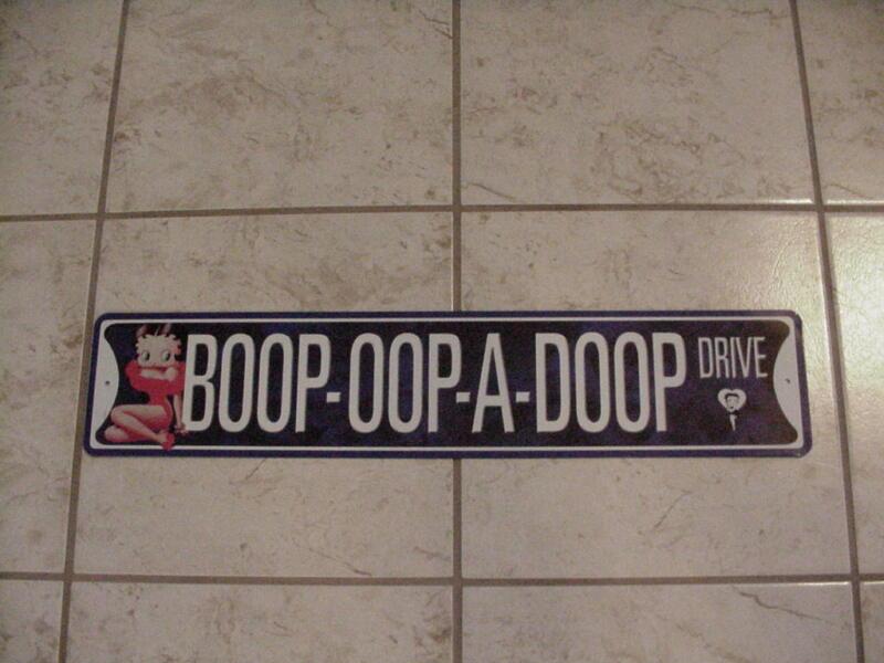 BETTY BOOP TIN SIGN BOOP-OOP-A-DOOP DRIVE DESIGN