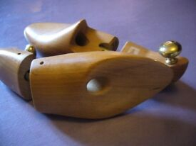 EXCELLENT PAIR FRENCH WOODEN SHOE SUPPORTS/LASTS