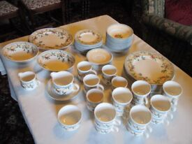 JOHNSON BROTHERS GOLDEN PEARS LARGE QUANTITY DINNER SERVICE/SET