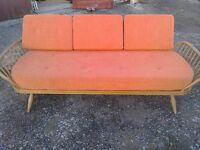 Ercol blonde daybed 1960's