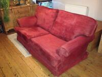 Beautiful terracotta chenille sofa £40