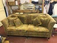 Greensmith Brown traditional 3 seater sofa