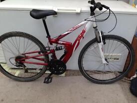 "Teenagers 14""inch frame Apollo fs26 full suspension mountain bike £40.00"