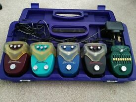 Danelectro Fodd Seriot pedals x5 - Danelectro pedalboard, power supply and daisy chain