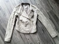 Faux leather jacket size 10