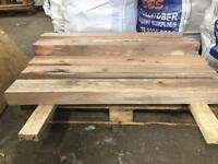 Solid oak planned mantle piece 4ft