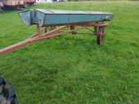 Tractor towable grass seed barrow in good condition