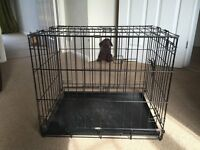 Medium Size Dog Crate (collapsable with 2 opening doors)