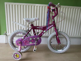 "LITTLE GIRLS BIKE..""RALEIGH MINI MISS""..14"" WHEELS.IN GREAT CONDITION,ALL READY TO RIDE AWAY TODAY."